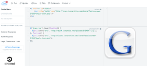 Screenshot jsFiddle